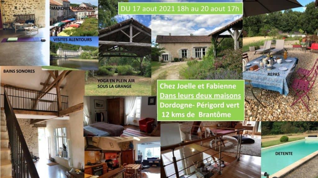 Stage de yoga en Dordogne - Aout 2021